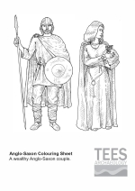 Anglo-Saxon colouring sheet
